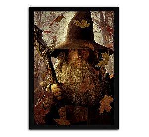 Poster com Moldura - O Hobbit Gandalf O Cinzento