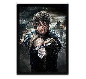 Poster com Moldura - O Hobbit Bilbo Baggins