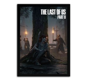 DUPLICADO - Poster com Moldura - The Last Of Us Part 2 Ellie