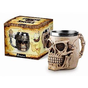 Caneca Skull - Caveira Crânio 450 ML