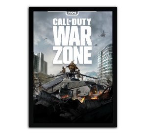 Poster com Moldura - Call Of Duty Warzone