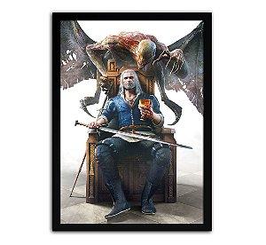Poster com Moldura - The Witcher Geralt Dettlaff