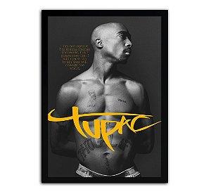 Poster com Moldura - Tupac Shakur Tribute
