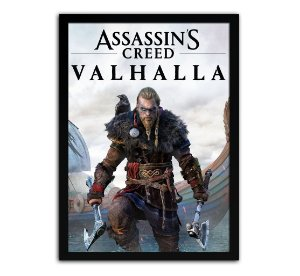 Poster com Moldura - Assassins Creed Valhalla