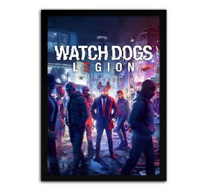 Poster com Moldura - Watch Dogs Legion