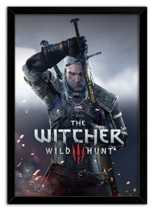 Pôster com Moldura Gamer - The Witcher 3 Wild Hunt