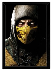 Pôster com Moldura Gamer - Scorpion Mortal Kombat