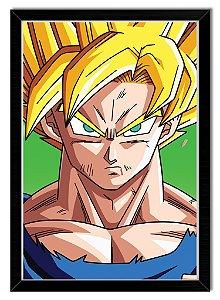 Poster Com Moldura - Goku Super Sayajin (DBZ)