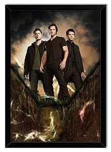 Poster Com Moldura Série - Supernatural