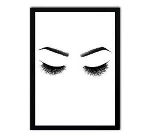 Quadro - Design de Sobrancelha - Cílios