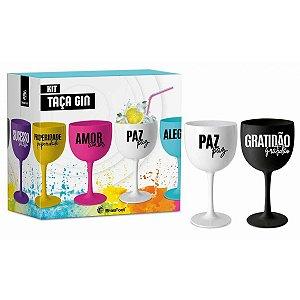 Kit Taças Gin - 2 Unidades - Paz E Gratidão