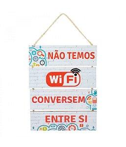 Quadro Corda - Não Temos Wifi Conversem Entre Si