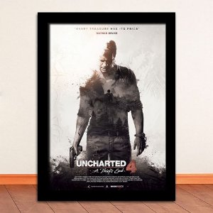 Poster com Moldura - Uncharted 4: A Thief's End