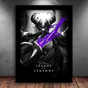 Poster com Moldura - Kassadin League Of Legends
