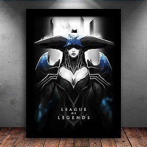 Poster com Moldura - Lissandra League Of Legends
