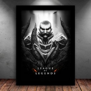 Poster com Moldura - Braum League Of Legends
