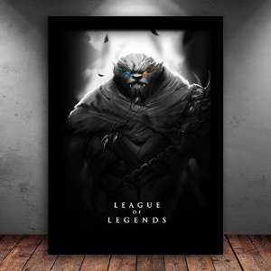 Poster com Moldura - Rengar League Of Legends