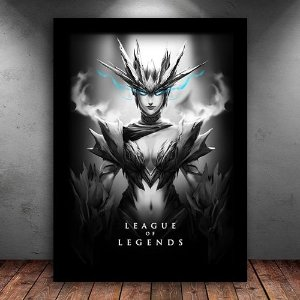 Poster com Moldura - Shyvana League Of Legends
