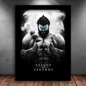Poster com Moldura - Udyr League Of Legends