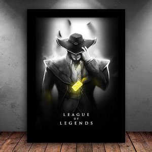 Poster com Moldura - Twisted Fate League Of Legends