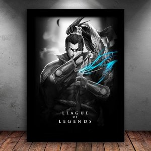Poster com Moldura - Yasuo League Of Legends
