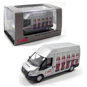 FORD TRANSIT HOCHDACHKASTEN LW COCA-COLA 1/76 OXFORD 76FT018CC