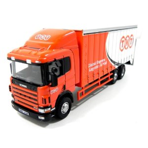 CAMINHÃO SCANIA 94 6 WHEEL CURTAINSIDE TNT 1/76 OXFORD 76S94001