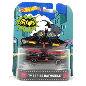 BATMOVEL TV SERIES BATMAN BATMOBILE 1/64 HOT WHEELS HOTDJF46-D718