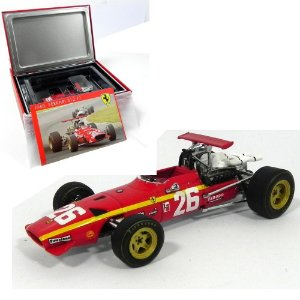 FERRARI 312 F1 #26 WINNER FRENCH GP ROUEN 1968 J. ICKX 1/43 HOT WHEELS HOTSF13/68