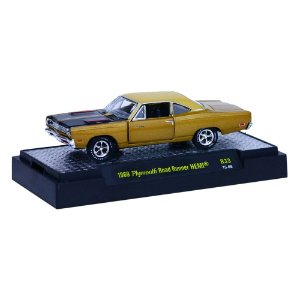 1969 Plymouth Road Runner Hemi 1/64 M2 Machines Detroit-Muscle R33 M2M32600-33