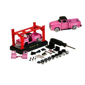 1956 FORD F-100 + ELEVADOR 1/64 M2 MACHINES MODEL-KIT R05 M2M37000-05
