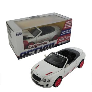 BENTLEY CONTINENTAL COM FRICÇÃO 1/32 CALIFORNIA ACTION 68323