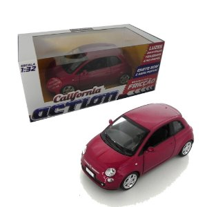 FIAT 500 COM FRICÇÃO 1/32 CALIFORNIA ACTION 68323