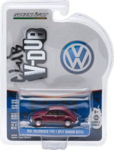 1951 VOLKSWAGEN FUSCA TYPE 1 SPLIT WINDOW BEETLE CLUB V-DUB 1/64 GREENLIGHT 29820