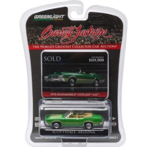 1970 OLDSMOBILE CUTLASS 442 BARRET JACKSON 1/64 GREENLIGHT 27830