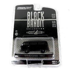 1978 Volkswagen Kombi Type Black Bandit Serie 14 1/64 Greenlight 27840