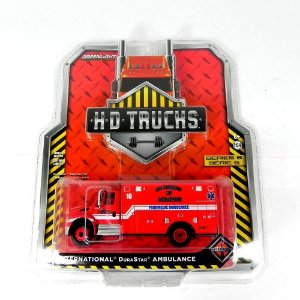 CAMINHÃO INTERNATIONAL DURASTAR AMBULANCE HD TRUCKS 1/64 GREENLIGHT 33050