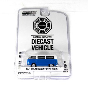 1971 VOLKSWAGEN KOMBI TYPE 2 BUS LOST INICIATIVA DHARMA 1/64 GREENLIGHT HOLLYWOOD 44720-E