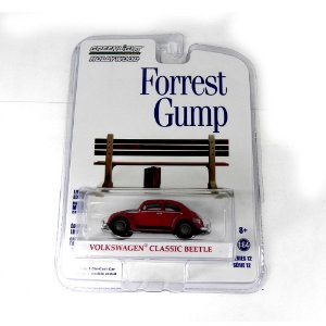 VOLKSWAGEN FUSCA CLASSIC BEETLE FORREST GUMP 1/64 GREENLIGHT HOLLYWOOD 44720-F