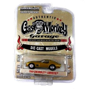 1969 CHEVROLET CORVETTE GAS MONKEY GARAGE 1/64 GREENLIGHT HOLLYWOOD 44720-C