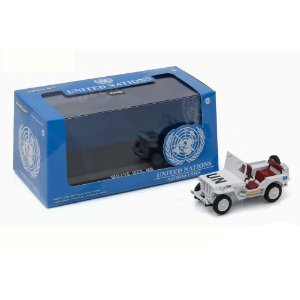 JEEP WILLYS MB UNITED NATIONS 1/43 GREENLIGHT 86308