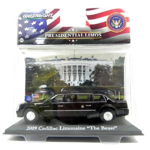 2009 CADILLAC LIMOUSINE THE BEAST BARACK OBAMA 1/43 GREENLIGHT PRESIDENTIAL LIMOS 86110-D