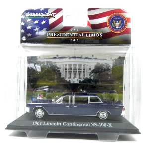 1961 Lincoln Continental Ss-100-X John F. Kennedy 1/43 Greenlight Presidential Limos 86110-A
