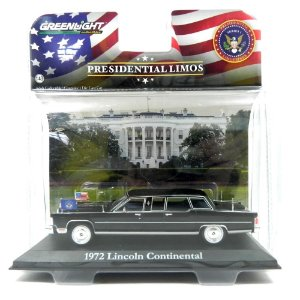 1972 Lincoln Continental Ronald Reagan 1/43 Greenlight Presidential Limos 86110-C