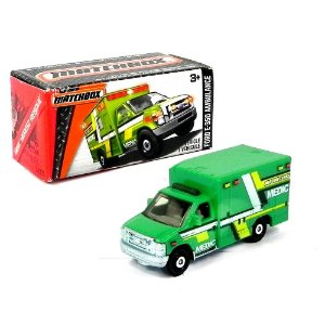 Ford E-350 Ambulance 1/64 Matchbox Mbx Heroic Rescue Matchdnk95