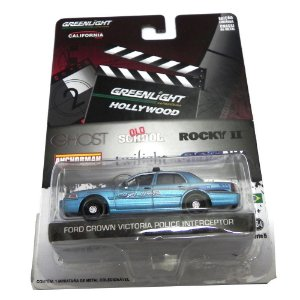 FORD CROWN VICTORIA POLICE INTERCEPTOR CREPUSCULO 1/64 GREENLIGHT HOLLYWOOD SERIE 5 44650-X