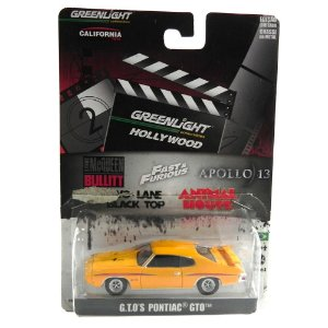 G.T.O´S PONTIAC GTO TWO LANE BLACKTOP (CORRIDA SEM FIM) 1/64 GREENLIGHT HOLLYWOOD SERIE 3 GRE44630