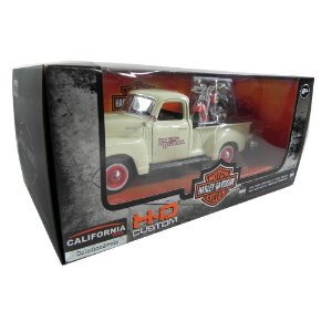 1950 CHEVROLET 3100 1/25 + MOTO HARLEY-DAVIDSON 2001 HD HERITAGE 1/24 MAISTO MAI32161