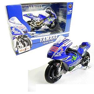Moto Yamaha Factory Racing Jorge Lorenzo Moto Gp 2014 1/18 Maisto Mai34586