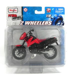 Moto Ktm 640 Double Ii 1/18 Maisto 2 Wheelers Mai10301